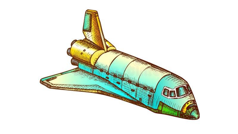 Vettore di colore navetta spaziale esplorazione dello spazio royalty illustrazione gratis