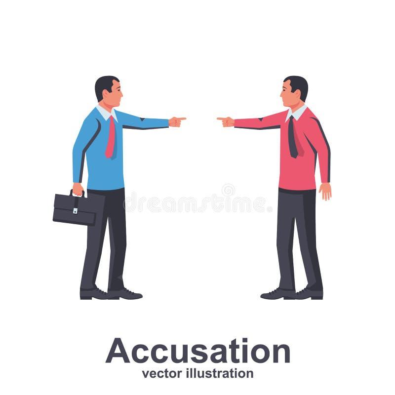 Vettore di concetto di accusa illustrazione vettoriale