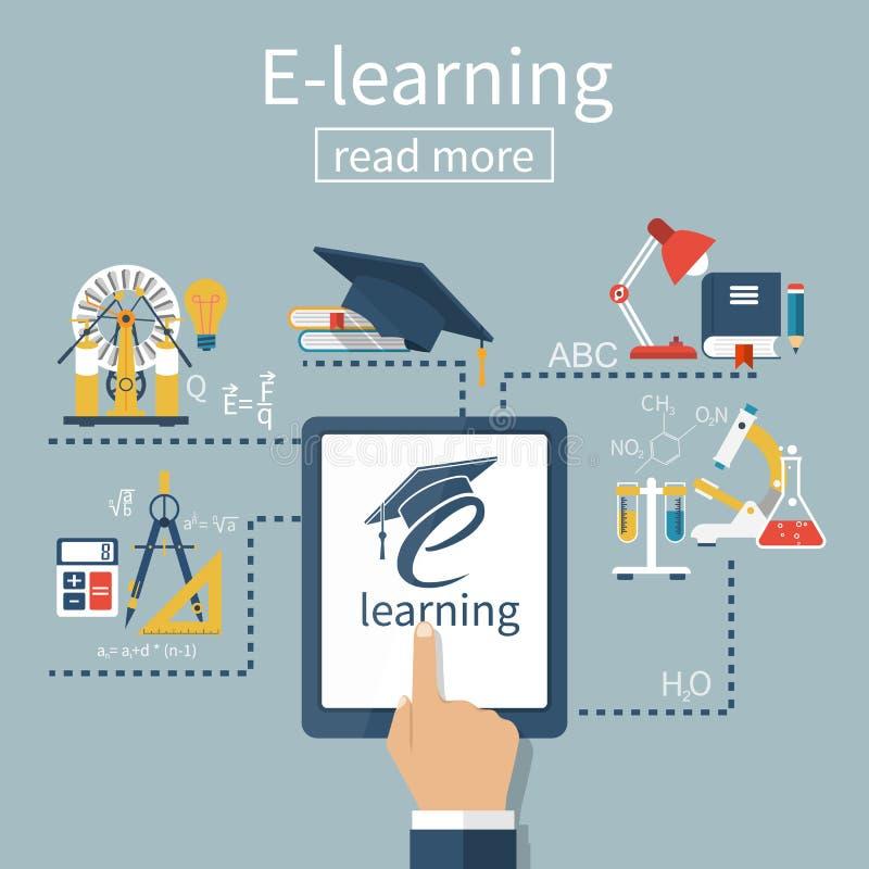 Vettore di concetto di e-learning illustrazione di stock