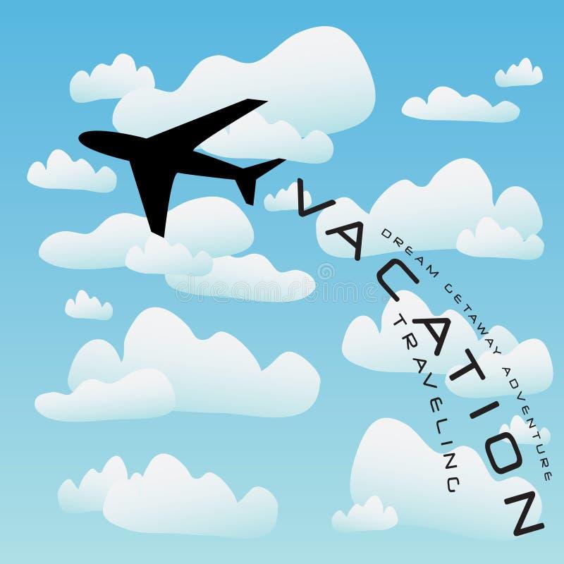 Vettore di corsa di vacanza dell'aeroplano illustrazione di stock