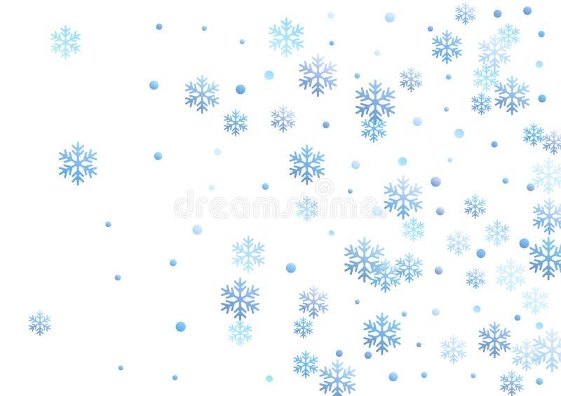 Vettore di cristallo di forme del cerchio e del fiocco di neve illustrazione di stock