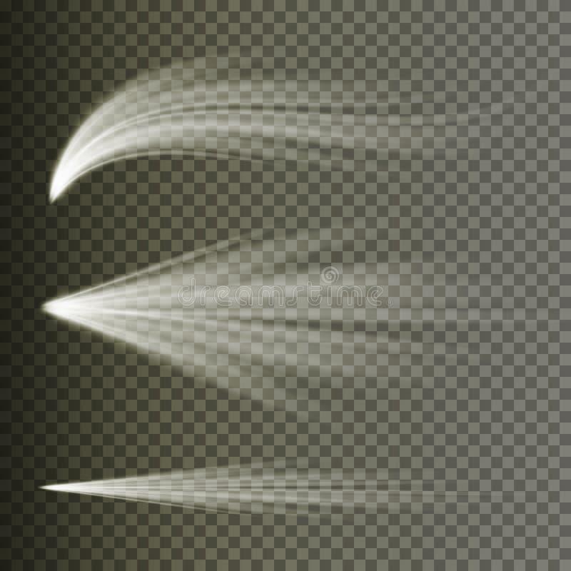 Vettore di effetto della luce Luce di scoppio dei raggi Isolato su fondo trasparente Illustrazione di vettore illustrazione di stock