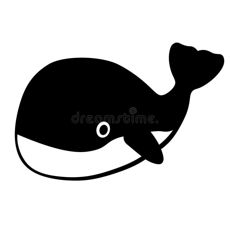 Vettore di vettore ENV della balena, ENV, logo, icona, illustrazione della siluetta dai crafteroks per gli usi differenti Visiti  royalty illustrazione gratis