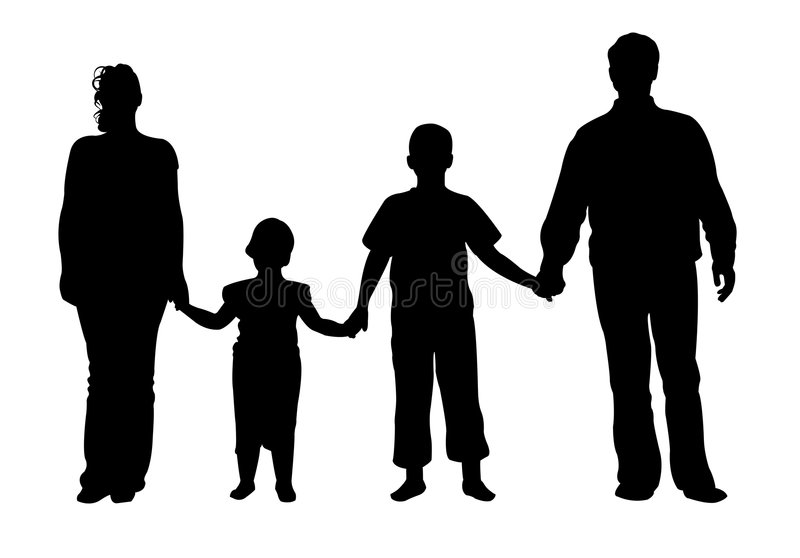 Vettore di famiglia di quattro illustrazione di stock