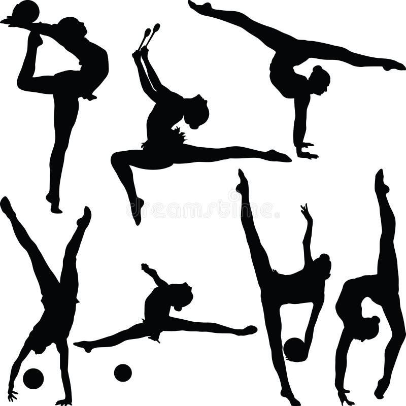 Vettore di ginnastica ritmica illustrazione vettoriale