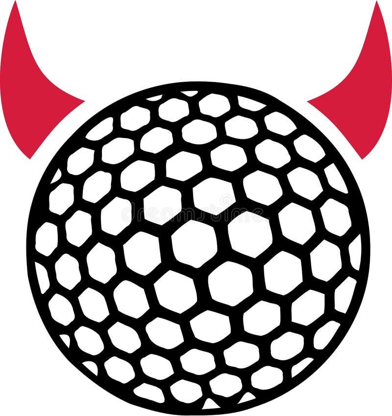 Vettore di golf del diavolo illustrazione vettoriale