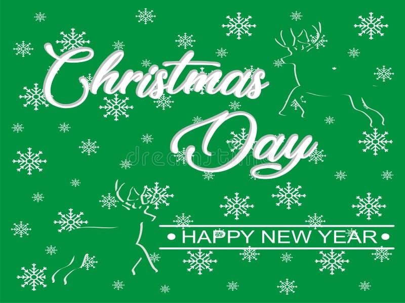 Vettore di immagine del buon anno e di giorno di Natale fotografia stock