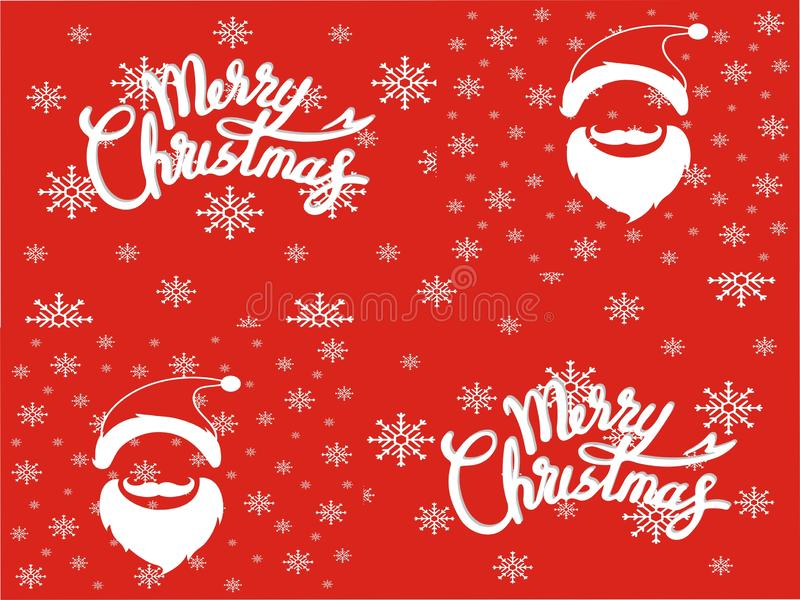 Vettore di immagine del buon anno e di Santa Christmas Day fotografia stock