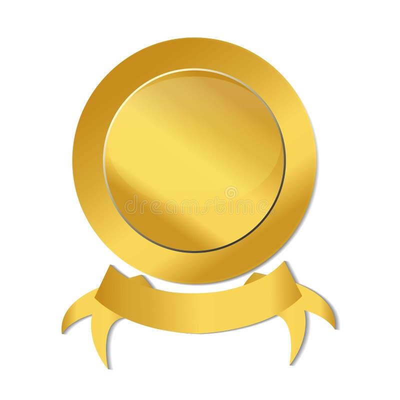 Vettore di immagine di logo dell'icona della guarnizione del nastro dell'oro royalty illustrazione gratis