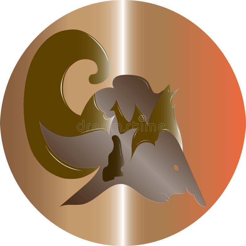 Vettore di logo di Arjuna illustrazione vettoriale