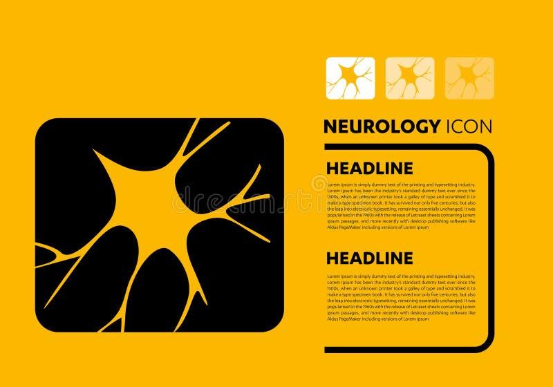 Vettore di logo del cervello di neurologia dell'icona della linea cellulare del nervo royalty illustrazione gratis