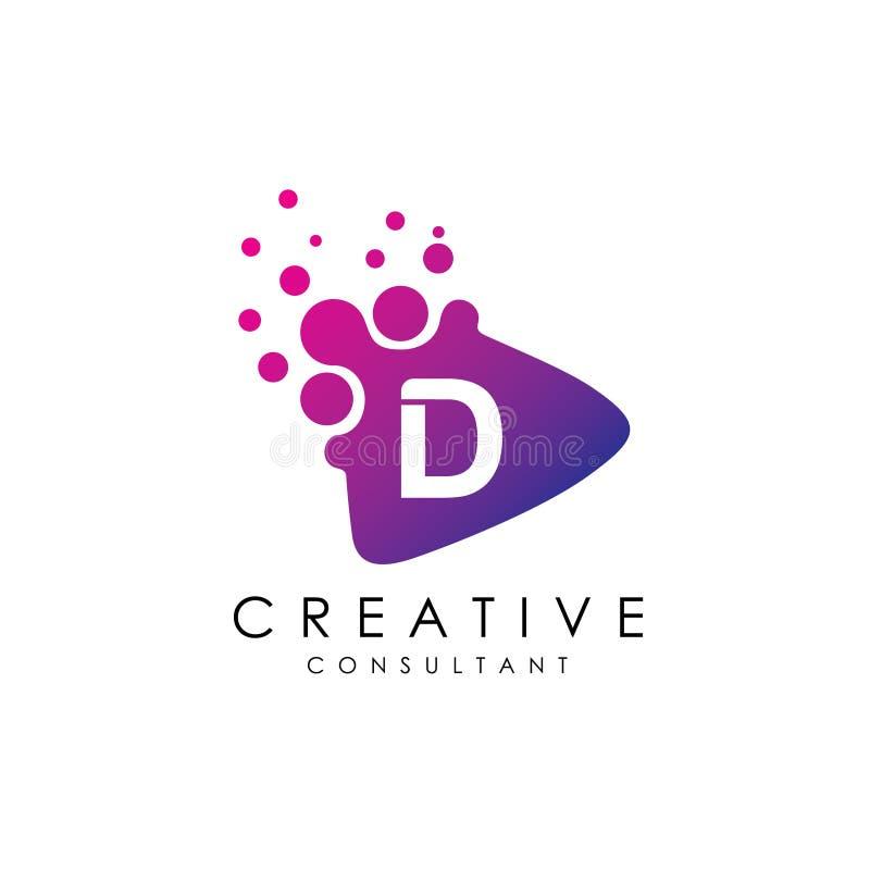 Vettore di logo del gioco della lettera iniziale D illustrazione vettoriale