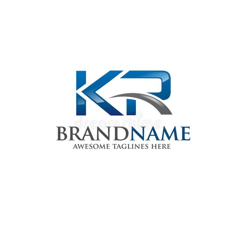 Vettore di logo del Kr della lettera illustrazione vettoriale