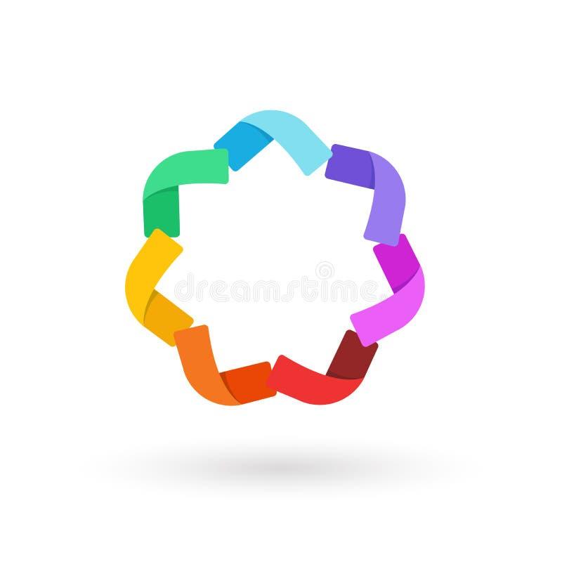 Vettore di logo del modello di affari per la società immagine stock libera da diritti