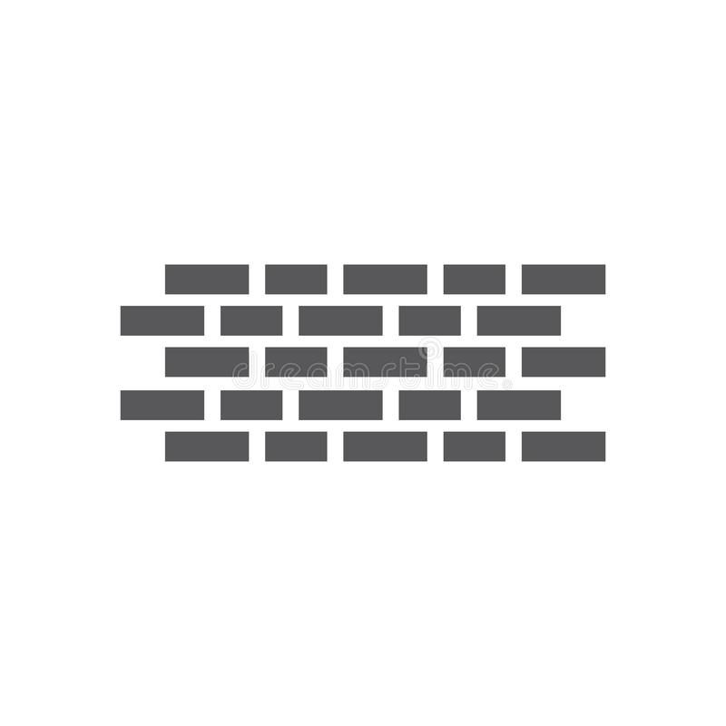 Vettore di logo del muro di mattoni illustrazione di stock