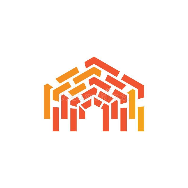Vettore di logo del muro di mattoni illustrazione vettoriale
