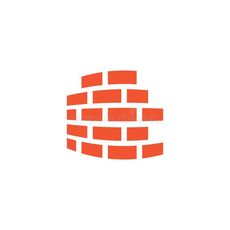 Vettore di logo del muro di mattoni royalty illustrazione gratis
