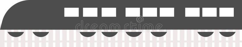 Vettore di logo del treno su un fondo bianco illustrazione di stock