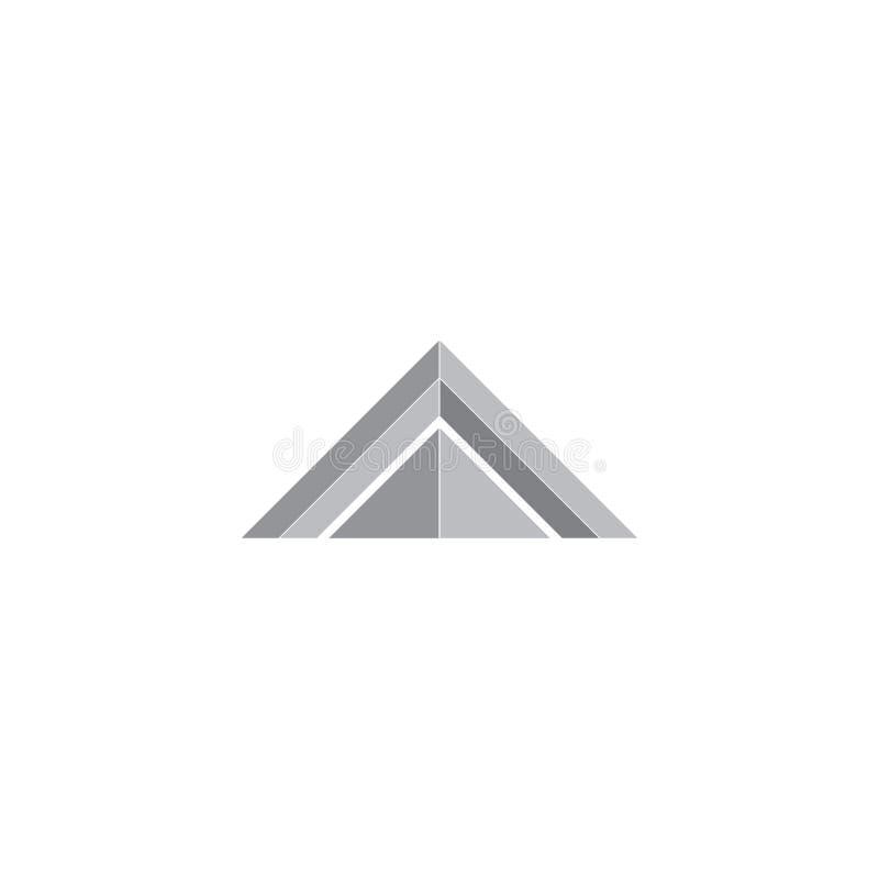 Vettore di logo del triangolo 3d royalty illustrazione gratis
