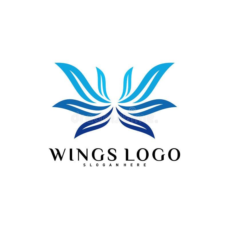 Vettore di logo dell'ala Colore Wing Logo Design Concept Template Vector illustrazione di stock