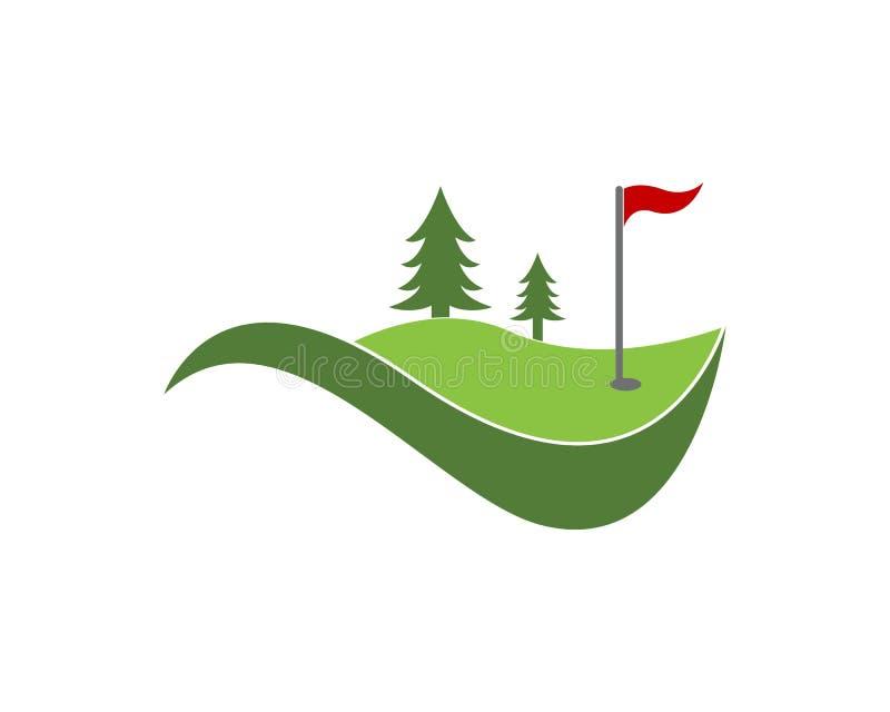 Vettore di logo dell'icona del campo di golf royalty illustrazione gratis