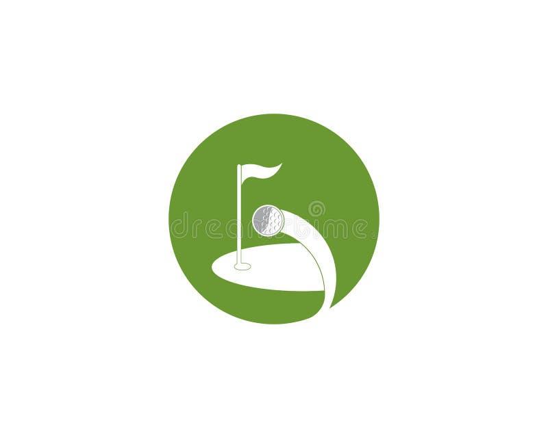 Vettore di logo dell'icona del campo di golf illustrazione di stock