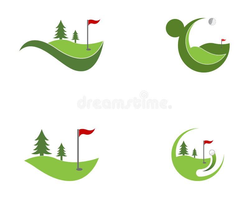 Vettore di logo dell'icona del campo di golf illustrazione vettoriale