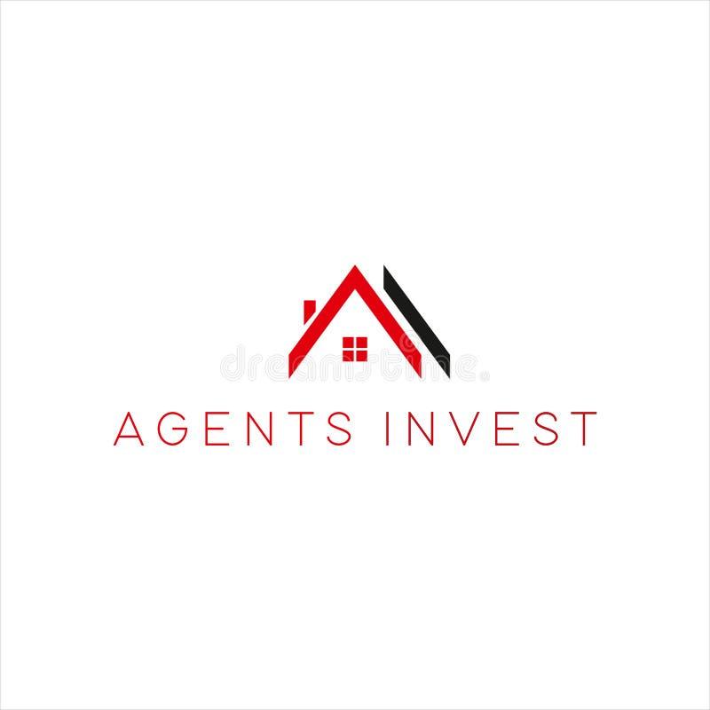 Vettore di logo della casa minimalist per la tua azienda royalty illustrazione gratis