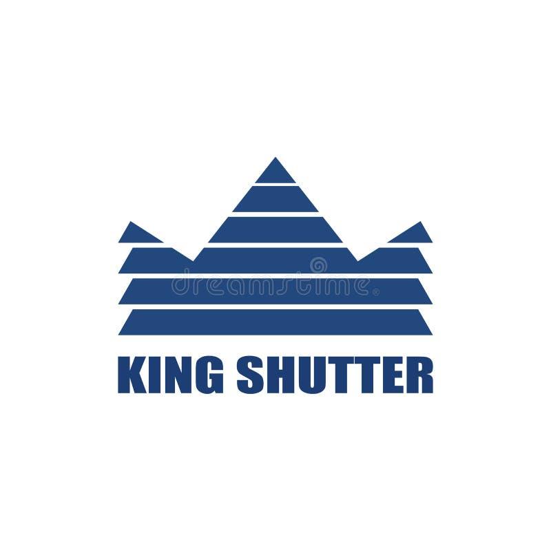 Vettore di logo della finestra dell'otturatore di re illustrazione di stock