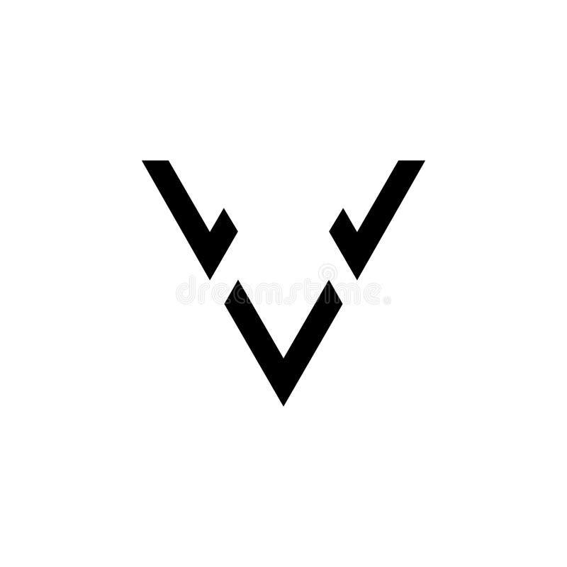 Vettore di logo della freccia della lettera v royalty illustrazione gratis