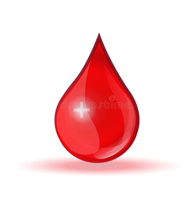 Vettore di logo di donazione di goccia del sangue illustrazione vettoriale
