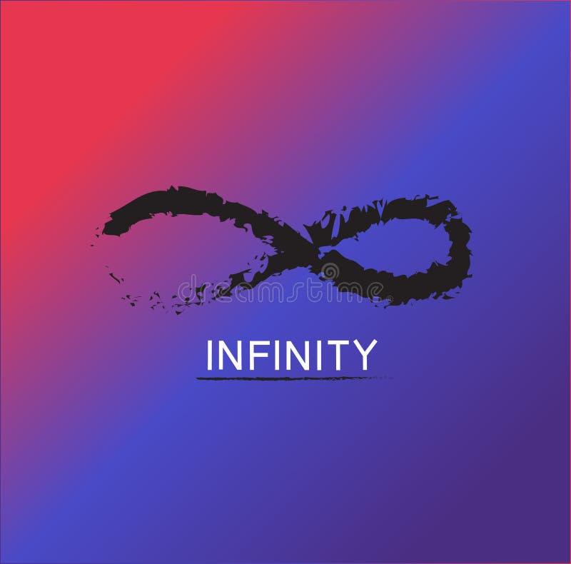 Vettore di logo di infinito fotografia stock