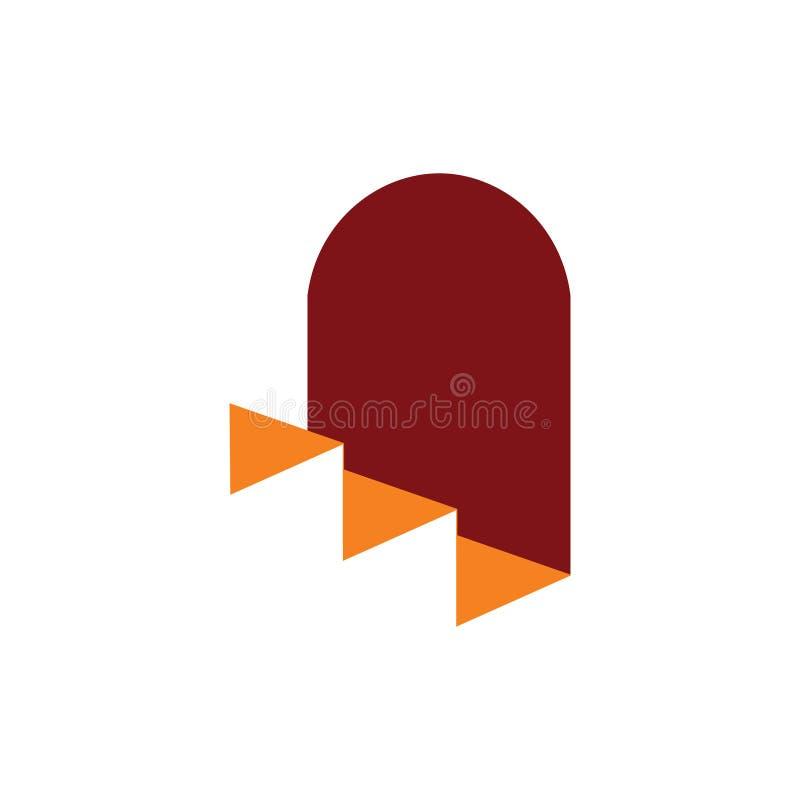 Vettore di logo di simbolo di architettura della porta e della scala royalty illustrazione gratis