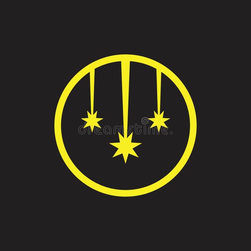 Vettore di logo di simbolo di caduta della stella della cometa illustrazione vettoriale