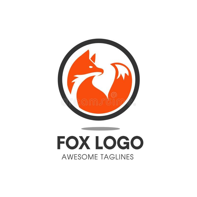 Vettore di logo di simbolo del cerchio di Fox illustrazione vettoriale