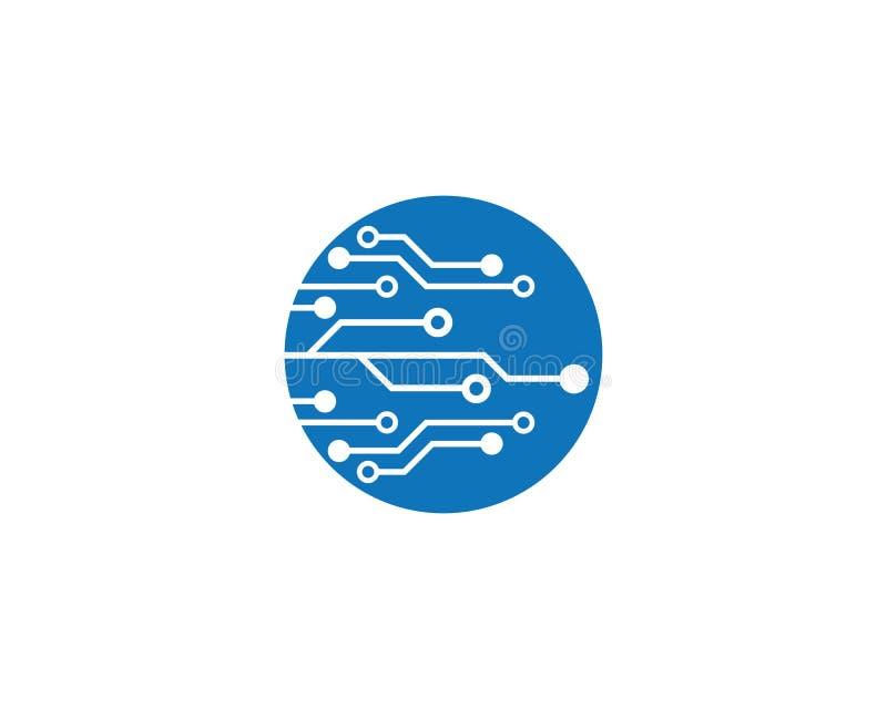 vettore di logo di tecnologia di circuito royalty illustrazione gratis