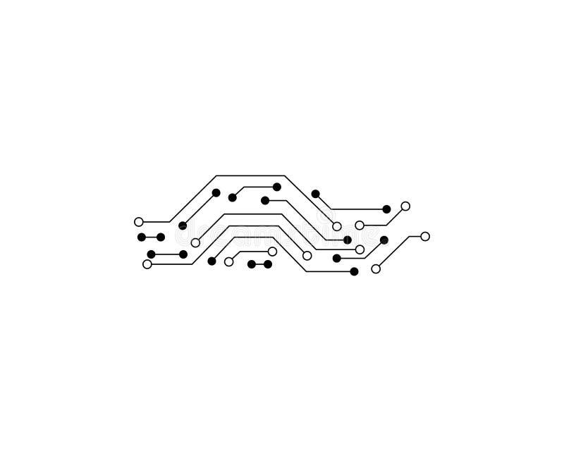 Vettore di Logo Template del circuito fotografie stock