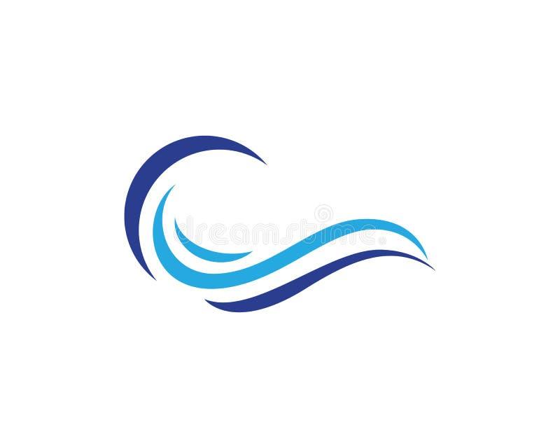 Vettore di Logo Template dell'onda di acqua illustrazione di stock
