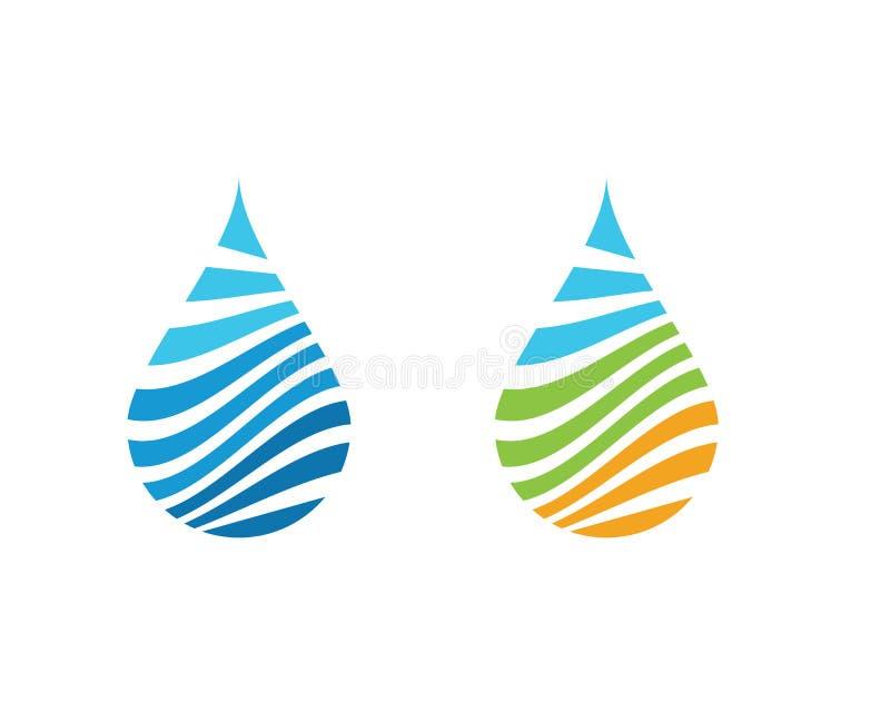 vettore di Logo Template della goccia di acqua illustrazione di stock