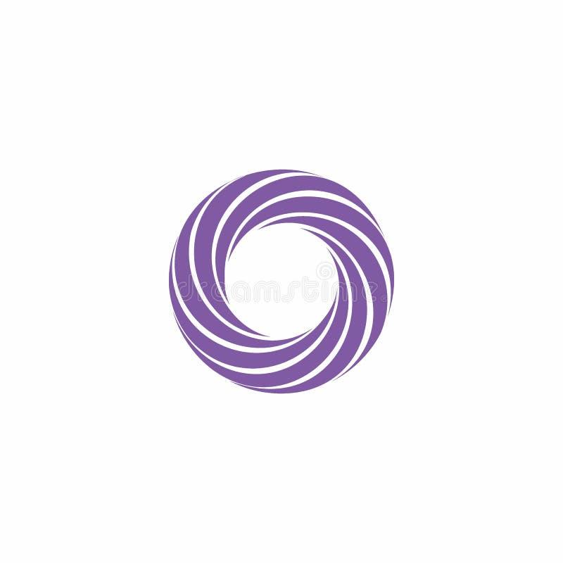 Vettore di logo di turbinio royalty illustrazione gratis