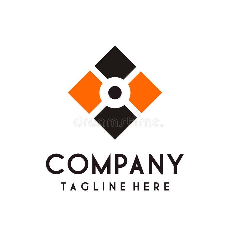 Vettore di lusso di progettazione di logo della stazione termale e di bellezza illustrazione di stock