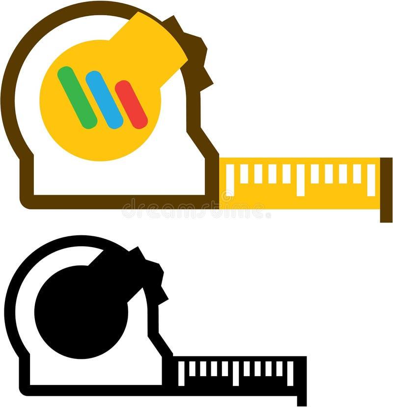 Vettore di misura del nastro illustrazione di stock