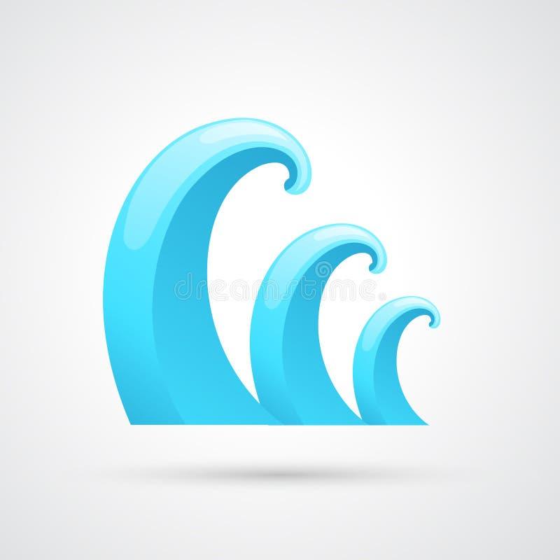 Vettore di onda dell'acqua illustrazione vettoriale
