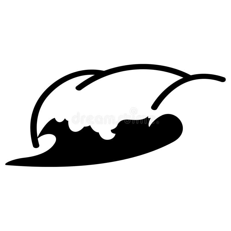 Vettore di vettore di onde ENV, ENV, logo, icona, illustrazione della siluetta dai crafteroks per gli usi differenti Visiti il mi illustrazione di stock