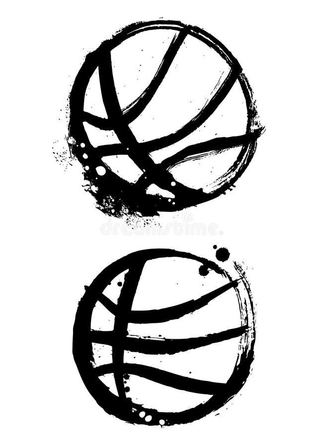 Vettore di pallacanestro di Grunge illustrazione di stock