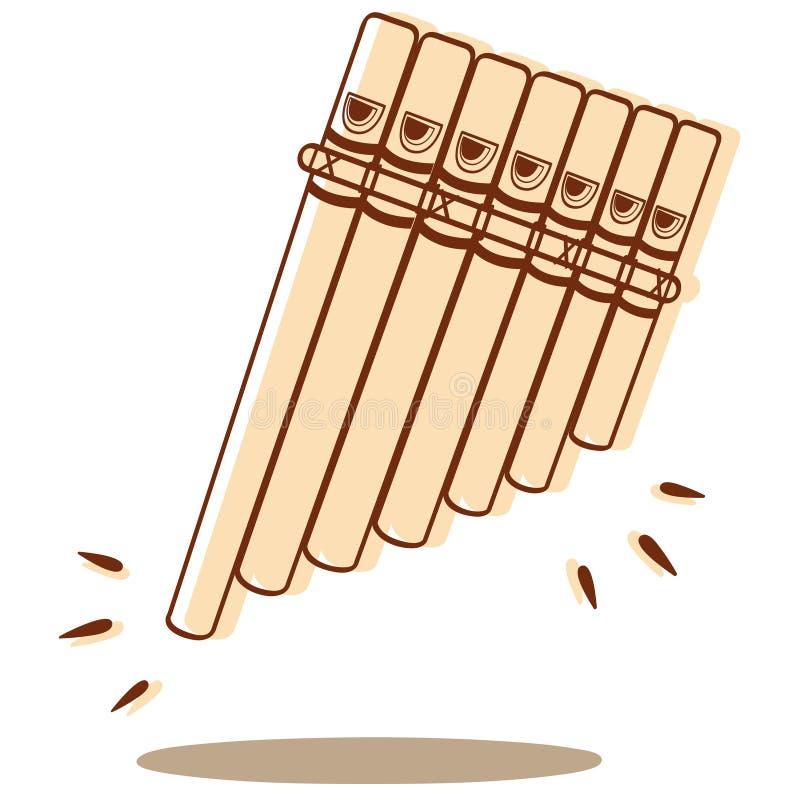 Vettore di Pan Flute illustrazione di stock