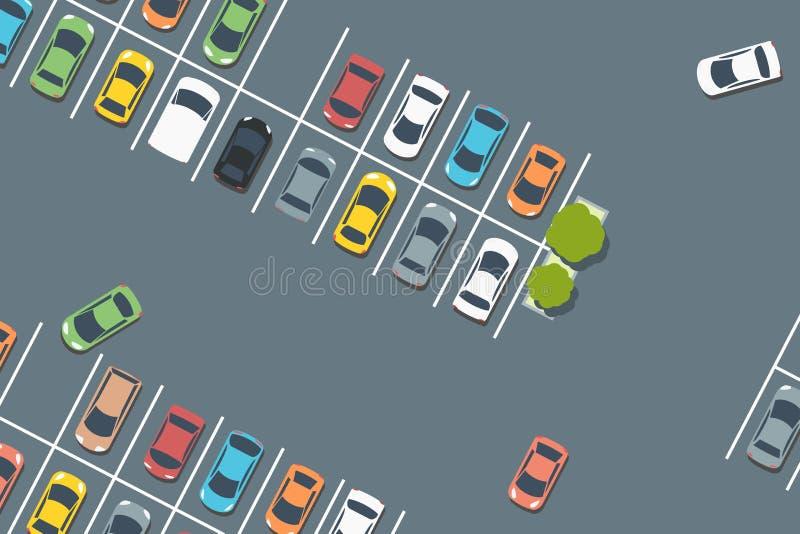 Vettore di parcheggio del supermercato illustrazione vettoriale