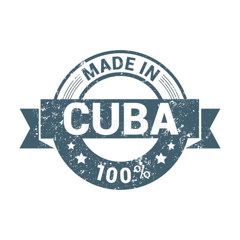 Vettore di progettazione del bollo di Cuba royalty illustrazione gratis