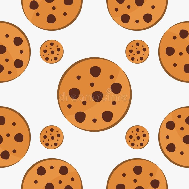 Vettore di progettazione del modello degli alimenti a rapida preparazione del biscotto royalty illustrazione gratis