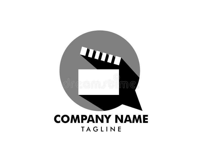 Vettore di progettazione del modello di logo di conversazione di film illustrazione vettoriale